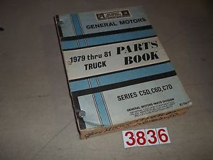 1979 1980 1981 Chevrolet GMC Series C5D C6D C7D Truck Parts Book Catalog 79 81