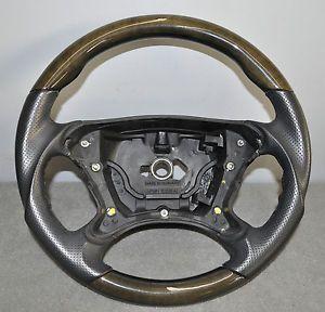 Mercedes Benz Steering Wheel Leather Wood SL500 SL550 R230