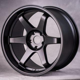 "18"" MIRO398 Style Matte Black Wheels Rims Fit Mitsubishi EVO x Brakes"