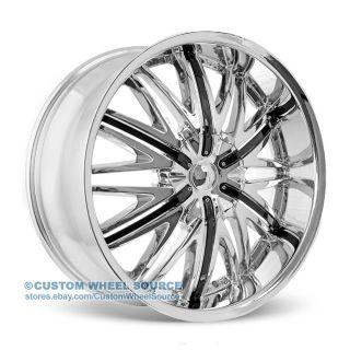 "20"" Velocity VW830 Chrome Rims Acura Audi Buick BMW Cadillac Chevy Wheels"
