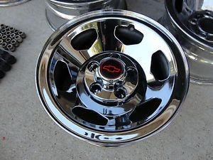 "454 SS Chevrolet Silverado Stock Wheels Rims Chevy GMC Chrome 15"" x 7"""