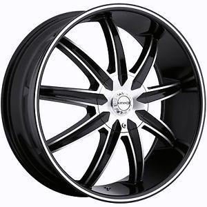 "22"" Black Gitano G60 Wheels Rims Navigator GMC Yukon Chevy Tahoe Escalade Sierra"