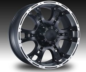 "22"" Black Wheels Tires 8x165 Hummer Chevy Dodge 2500 New 305 40 22"