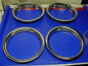Set of 4 GM Rally Wheel 14 inch Trim Rings Chevy Buick Olds Pontiac Beauty Rims