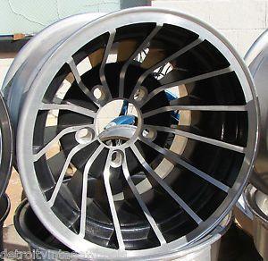 15x10 E T Aluminum Turbine Hurricane Cyclone Mag Wheels 5 Lug Rims Black