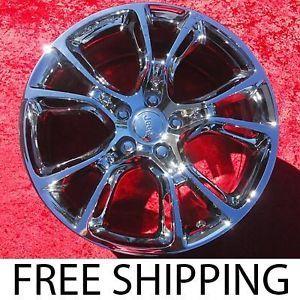 "Set of 4 New 20"" Jeep Grand Cherokee SRT8 Chrome Wheels Rims 9113 Exchange"