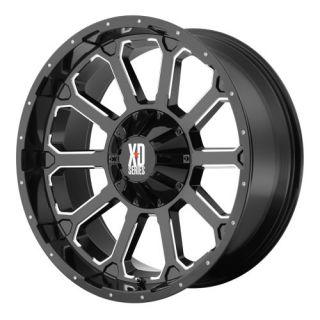 18 inch Black Wheels KMC XD806 Bomb 2011 2012 Chevy GMC 2500 3500 8x180