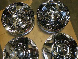 Ford F350 Dually 17x6 5 8 200 KMC Rockstar Chrome Wheels