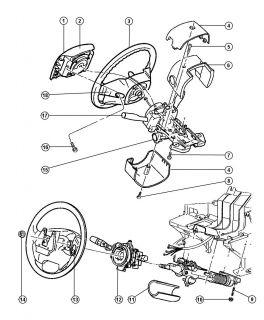 Clockspring Air Bag Clock Spring Jeep Grand Cherokee 99 01 Mopar 56042341AE