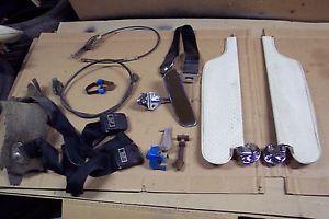 65 1965 Pontiac GTO Sun Visors Black Seat Belts Cables Mirror Interior Parts Lot