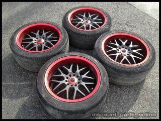 """JDM Sparco NS2 17"""" inch Wheels 5 Lug 5x114 3 5x100 Rims Nissan Honda Toyota 22"""