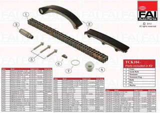 Timing Chain Kit for Saab 9 3 YS3D 2 2 Tid 11 00 09 02 ATCK104 244