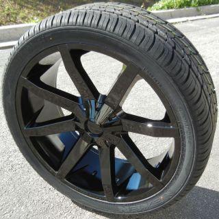 "24"" KMC Slide Wheels Nexen Roadian HP Tires Silverado Tahoe GMC Yukon Escalade"