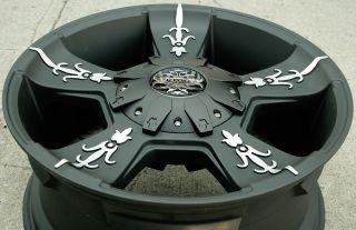 "KMC Vandal 668 20"" Black Rims Wheels Trailblazer 02 09 20 x 9 0 6H 30"