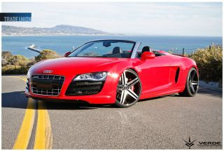"Verde Parallax 22"" Black Wheels Rims Tires Fit Camaro Ridgline Accord DTS BMW X6"