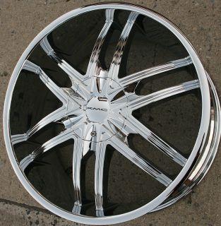 KMC Splinter KM678 22 x 9 5 Chrome Rims Wheels Ford F 150 F150 97 03 5H 15