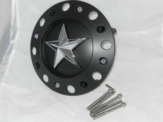 "KMC 775 WHEEL RIM ROCKSTAR BLACK CENTER CAP 17"" 18"" 20"" 22"" 24"" 1000775 S409 51"