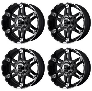 KMC XD797 Spy XD79729013312N Rims Set of 4 20x9 12mm Offset 5x135 G Black Mach
