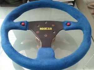 Sparco Blue Suede Steering Wheel JDM Used Honda Acura