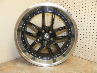 "Motegi Racing Rims Set of 4 18x8"" inch 5x100 Lug Pattern Black Chrome Lip Wheels"