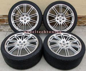"20"" Porsche Cayenne Sport Edition Style Wheels and Tires Hyper Silver"