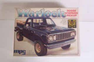 4x4 Dodge Warlock Truck Vtg 70's MPC 1 25 Pickup Model Kit Stepside Opened