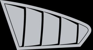 Dodge Caliber Rear Side Window Simulated Louvers