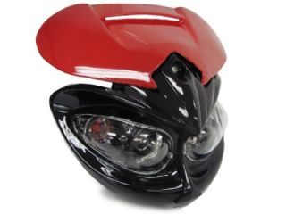Head Light Street Fighter Red Black Fairing for Triumph Ducati Buell Naked Bike