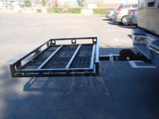 """Folding 2"""" Hitch Shank Adapter Cargo Wheelchair Carrier"""