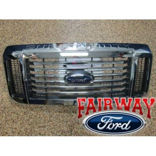 08 09 10 Super Duty F250 F350 F450 F550 Genuine Ford Chrome Black Grille