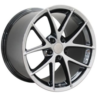 "19"" 18"" PVD Black Chrome Corvette C6 Spyder Wheels Rims Fits Chevrolet"