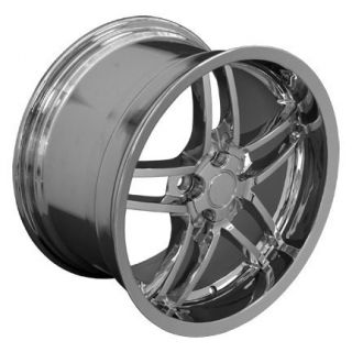 "One Wheel 19"" Chrome Fits Corvette ZO6 Deep Dish Rims"