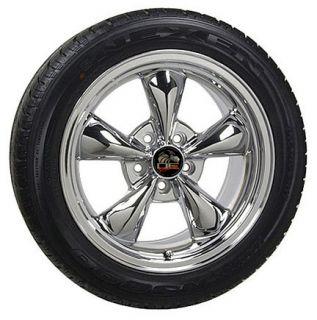 """17"""" Chrome Bullitt Bullet Style Wheels Tires Cobra Fits Mustang® GT"""