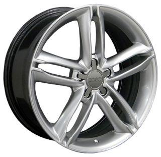 "18"" TT Style Wheels Hyper Silver 18x8 Rim Fits Audi Set"
