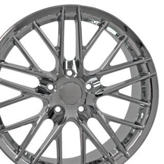 "18"" 17"" Corvette C6 ZR1 Chrome Wheels Set of 4 Rims Fit Camaro SS Chevrolet"