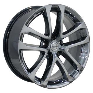 "18"" Nissan Altima Black Chrome Wheels Set of 4 62521 Rims Infiniti I30 I35"