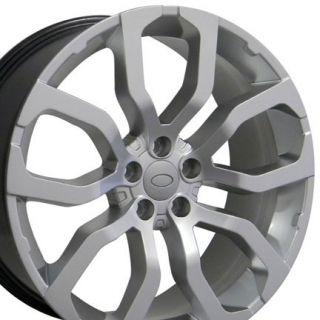 "22"" Wheels Hyper Silver 4 Rims 4 Tires Fit Land Range Rover LR3 LR4 HSE Sport"