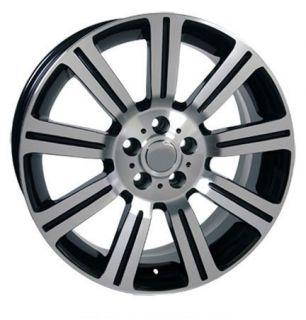 """22"""" Black Stormer Wheels Rims Fit Land Range Rover LR3 LR4 HSE Sport Super"""