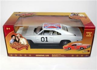 Dukes of Hazzard General Lee White 1969 Dodge Charger Diecast Car 1 18 New