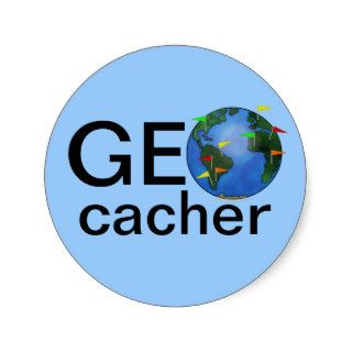 Geocacher Earth Geocaching Swag Custom Sticker