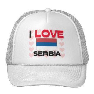 I Love Serbia Hats