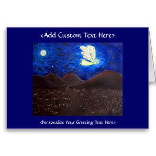 Holiday Angel Art Custom Greeting or Note Cards