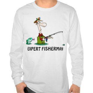 EXPERT FISHERMAN FUNNY FISHING T SHIRT