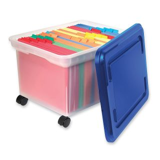 Innovative Storage Designs Mobile File Tote Legal Size ClearBlue