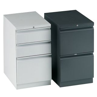 HON Efficiencies 2 Drawer Mobile Pedestal 28 H x 15 W x 19 78 D  R Pull Black