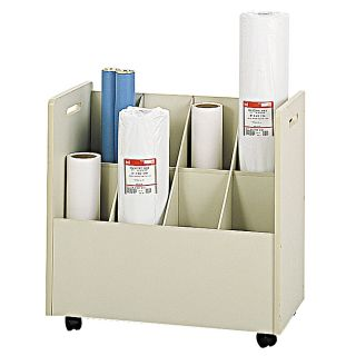 Safco Mobile Roll File 8 Bins 7 Tubes