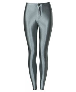 Parisian Silver High Shine Disco Pants