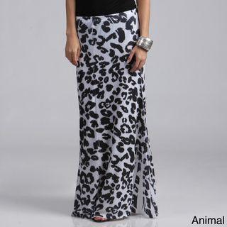 Tabeez Women's Plus Size Animal Print Maxi Skirt Tabeez Skirts