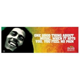 1art1 49212 Bob Marley   Zitat, Music, When It Hits You, You Feel No Pain Midi Poster (91 x 30cm): Küche & Haushalt