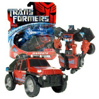 Hasbro Year 2007 Transformers Movie All Spark Power Series Scout Class 4 1/2 Inch Tall Robot Action Figure   Autobot WARPATH with Missile and Cyber Key (Vehicle Mode: Off Road SUV): Toys & Games